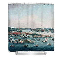 Hong Kong Harbor Shower Curtain by Cantonese School