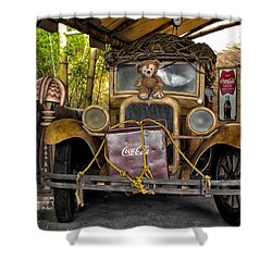 Hood Ornament Bear 2 Shower Curtain by Thomas Woolworth