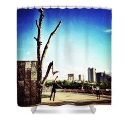 Hoopin' Shower Curtain by Natasha Marco
