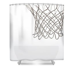 Hoops Shower Curtain by Karol Livote