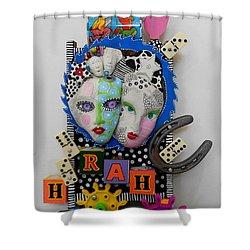 Hoorah For Everything Shower Curtain by Keri Joy Colestock