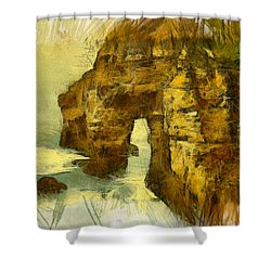 Horn Head Temple Arch Shower Curtain by Unknown