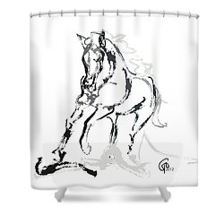 Horse- Andalusian Angel Shower Curtain by Go Van Kampen