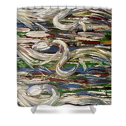 Horse Race Shower Curtain by Patrick J Murphy