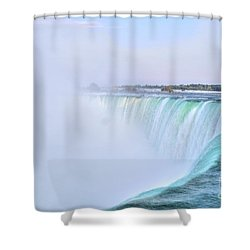 Horseshoe Falls Shower Curtain by Kathleen Struckle