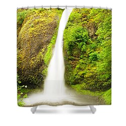 Horsetail Falls In The Spring Shower Curtain by Jeff Swan