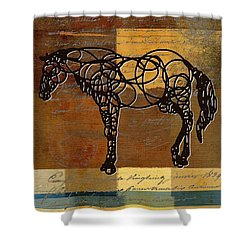 Horso - 70s01br02t Shower Curtain by Variance Collections
