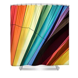 Hot Air Balloon Rainbow Shower Curtain by Edward Fielding