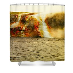 Hot Water Pouring Shower Curtain by Jeff Swan