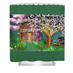 House On Milbert Street Shower Curtain by Gerry Robins