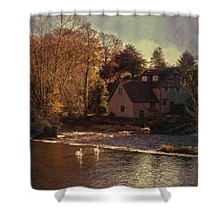House On The River Shower Curtain by Amanda Elwell