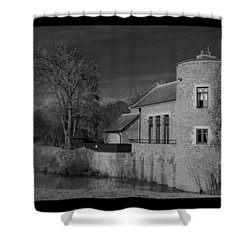 House On The River Shower Curtain by Maj Seda