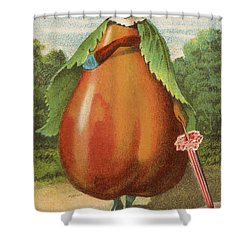 How Do I A Pear Shower Curtain by Aged Pixel