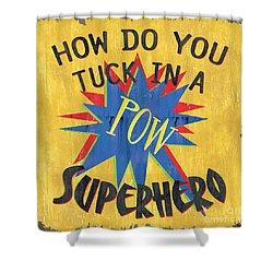 How Do You Tuck... Shower Curtain by Debbie DeWitt