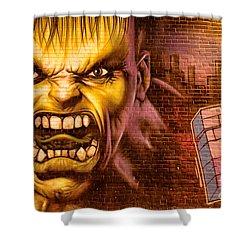 Hulk Graffiti In The Bronx New York City Shower Curtain by Sabine Jacobs