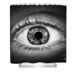 Human Eye Shower Curtain by Elena Elisseeva