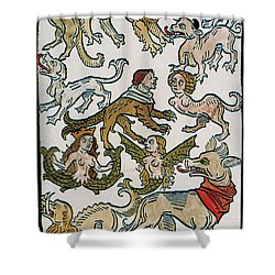 Human Monsters 1493 Shower Curtain by Photo Researchers