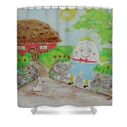 Humpty's House Shower Curtain by Diane Pape