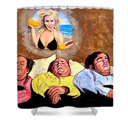 I Dream Of Jenny Shower Curtain by Tom Roderick