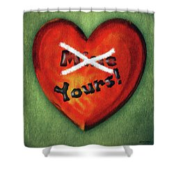 I Gave You My Heart Shower Curtain by Jeff Kolker
