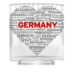 I Love Germany Shower Curtain by Aged Pixel