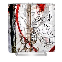 I Love Rocknroll Shower Curtain by Joachim G Pinkawa