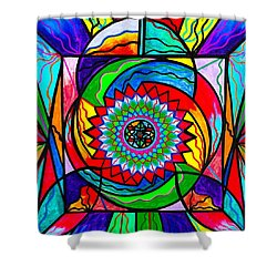 I Trust Myself To Create Shower Curtain by Teal Eye  Print Store