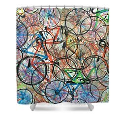 I Want To Ride My Bicycle Bicycle  Shower Curtain by Scott French