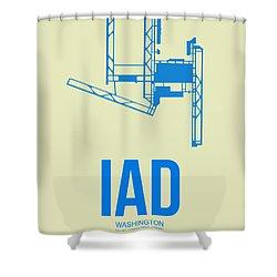 Iad Washington Airport Poster 1 Shower Curtain by Naxart Studio