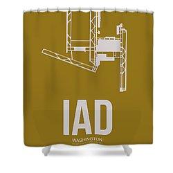 Iad Washington Airport Poster 3 Shower Curtain by Naxart Studio