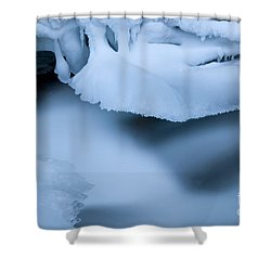 Ice 19 Shower Curtain by Bob Christopher