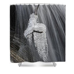 Ice And Water Shower Curtain by Dan Friend