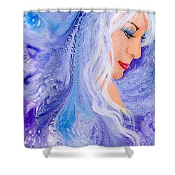 Ice Angel Shower Curtain by Sherry Shipley