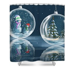 Ice Balls Shower Curtain by Veronica Minozzi
