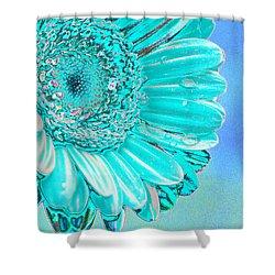 Ice Blue Shower Curtain by Carol Lynch