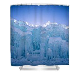Ice Castle Shower Curtain by Edward Fielding