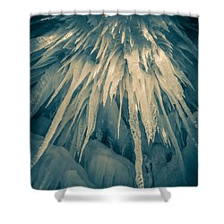 Ice Cave Shower Curtain by Edward Fielding