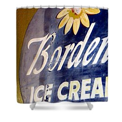 Ice Cream Sign Shower Curtain by Dorothy Menera