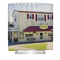 Icehouse Waterfront Restaurant 1 Shower Curtain by Lanjee Chee