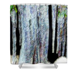 Icicles  Shower Curtain by Daniel Janda
