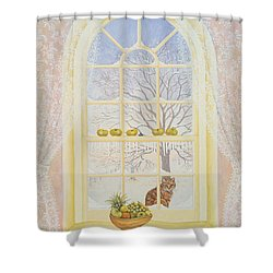 Icicles Shower Curtain by Ditz