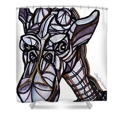 iGiraffe Shower Curtain by Del Gaizo