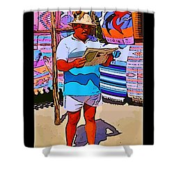 Iguana Man The Poster Shower Curtain by John Malone