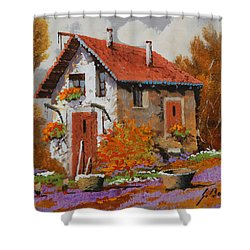 Il Prato Viola Shower Curtain by Guido Borelli