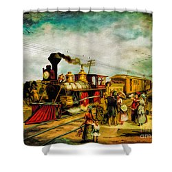 Illinois Central Railroad 1882 Shower Curtain by Lianne Schneider