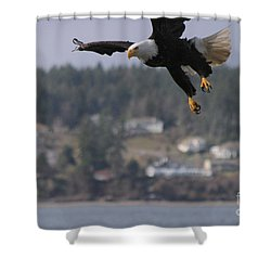 I'm Coming In For A Landing Shower Curtain by Kym Backland