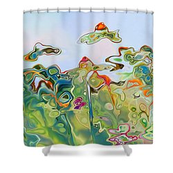 Imagine Af11 Shower Curtain by Variance Collections