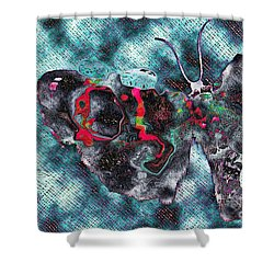 Imagine Number 1 Butterfly Art Shower Curtain by Andy Prendy