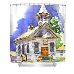 Immanuel Evangelical Lutheran Church Pilot Knob Missouri Shower Curtain by Kip DeVore