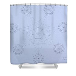 Impossible Parallels Shower Curtain by Jason Padgett